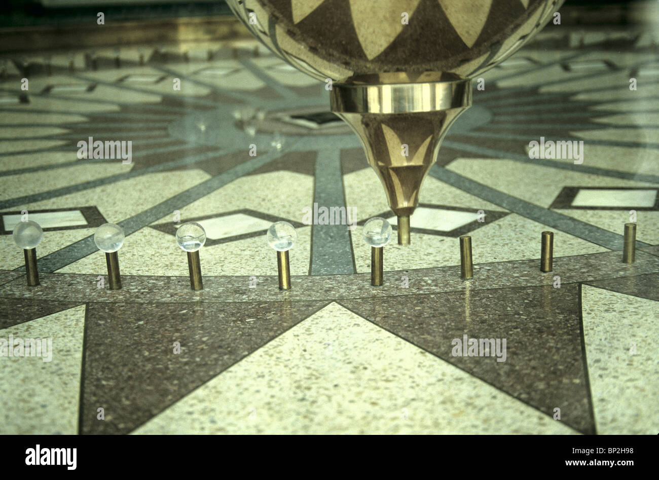 Foucault Pendulum, 12 ft. arc, - Stock Image