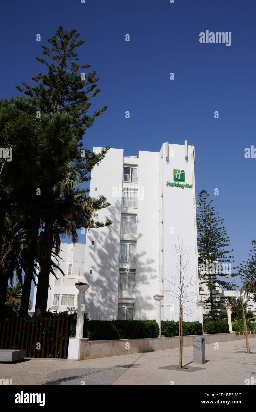 Holiday Inn hotel (formerly known as Galbe) in the mass-tourism coastal enclave of Armaçao de Pera, in Portugal's - Stock Image