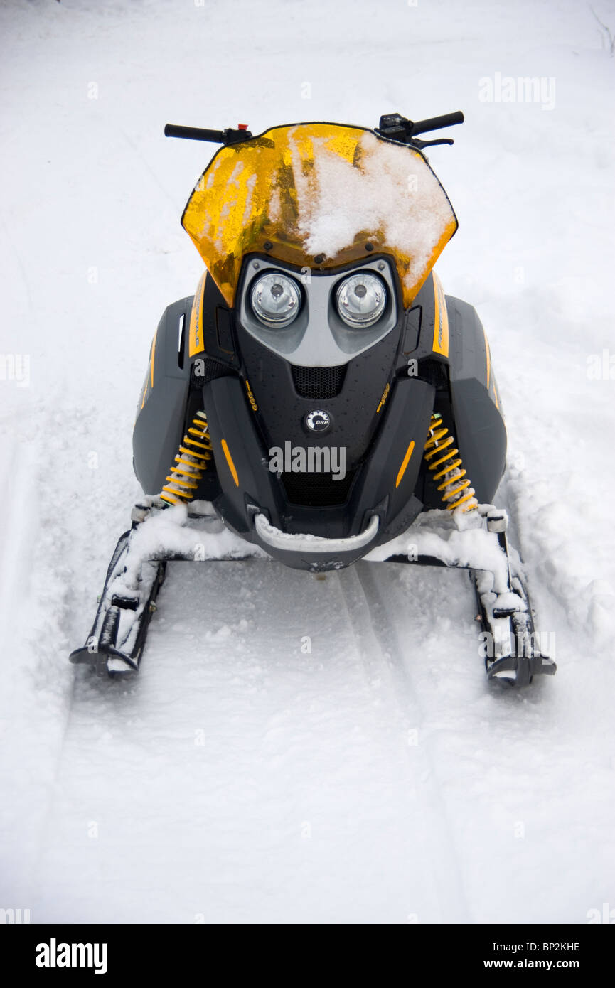 A snowmobile or Ski-Doo in Churchill, Manitoba, Canada - Stock Image
