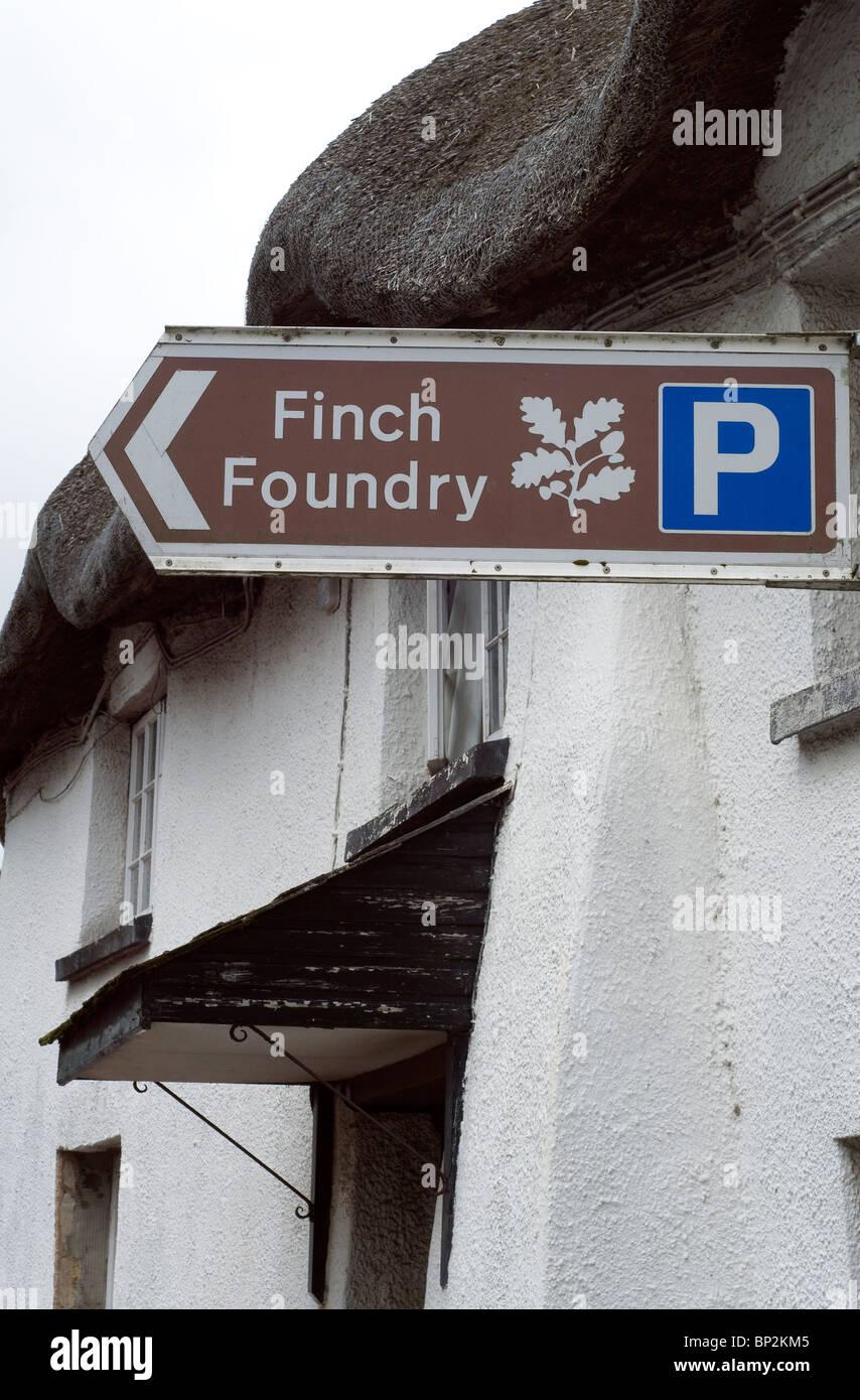 Finches Foundry,Sticklepath,Devon - Stock Image