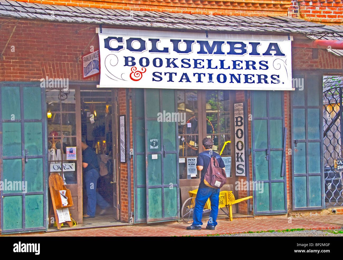 Columbia Booksellers and Stationers, Columbia State Historic Park, California - Stock Image