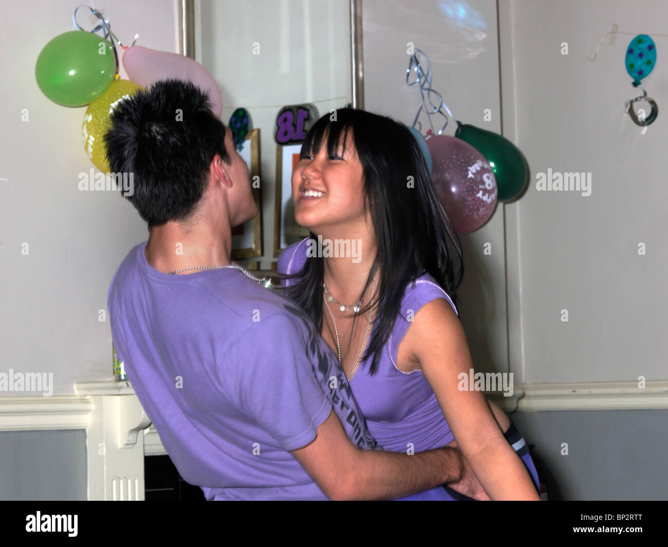 5375dcf92 Teenagers Dancing at 18th Birthday Party Stock Photo  30795432 - Alamy
