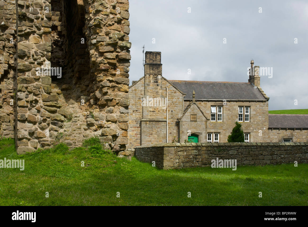 Thirlwall Castle, near Greenhead - and Hadrian's Wall - Cumbria, England UK - Stock Image