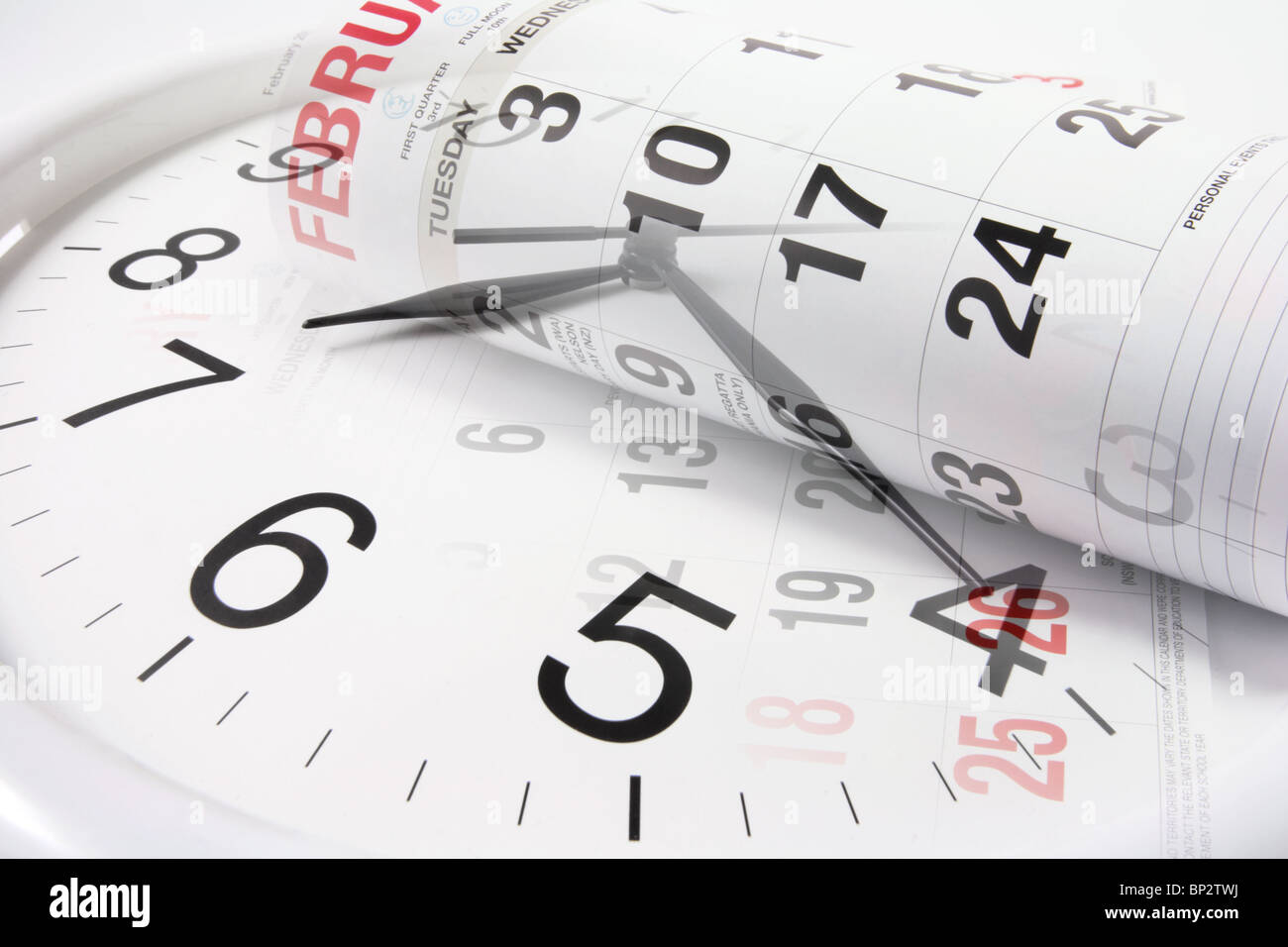 Clock and Calendar Pages - Stock Image
