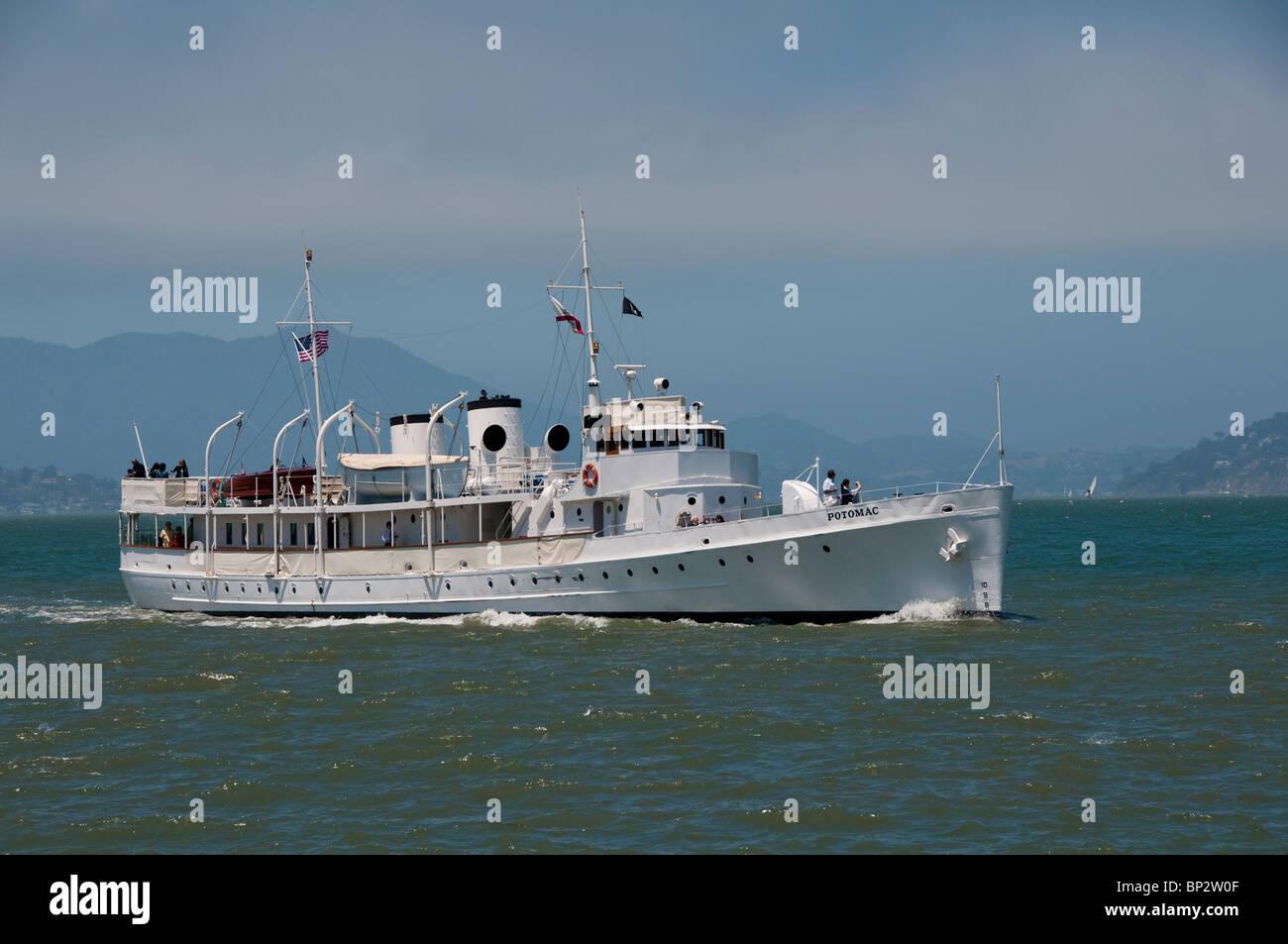 San Francisco: Excursion boat FDR's Potomac on San Francisco Bay. Photo copyright Lee Foster. Photo # casanf104139. - Stock Image