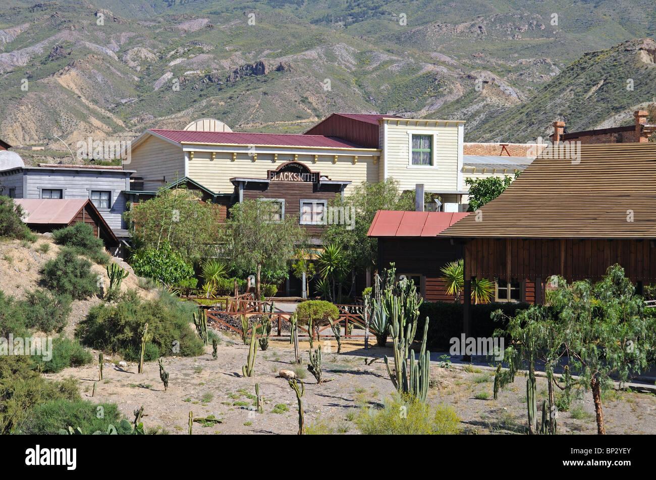 Fort Apache, Mini Hollywood, Tabernas, Almeria Province, Andalucia, Spain, Western Europe. Stock Photo