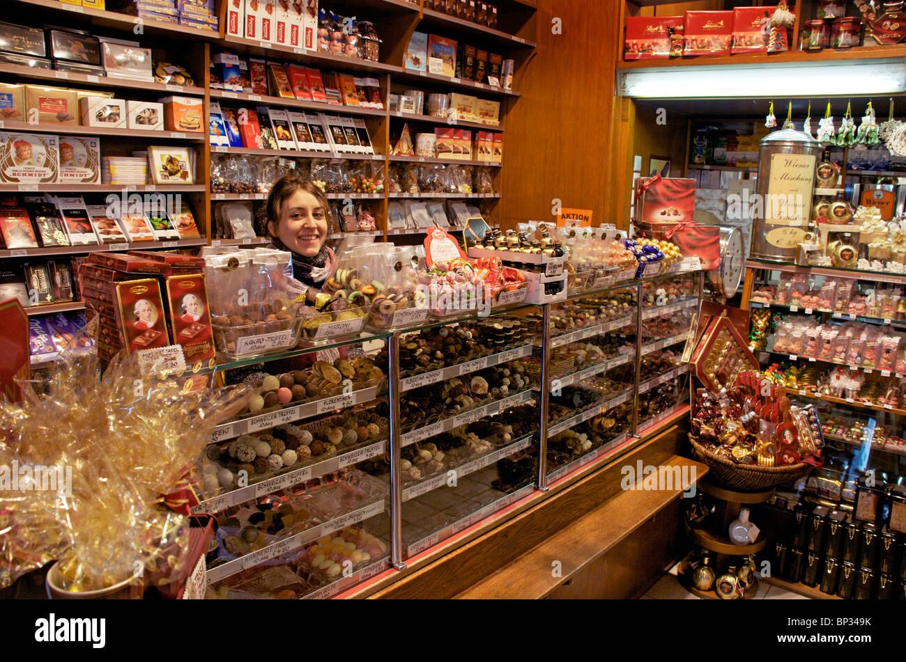 Chocolate Shop Vienna Austria Stock Photo 30802063 Alamy