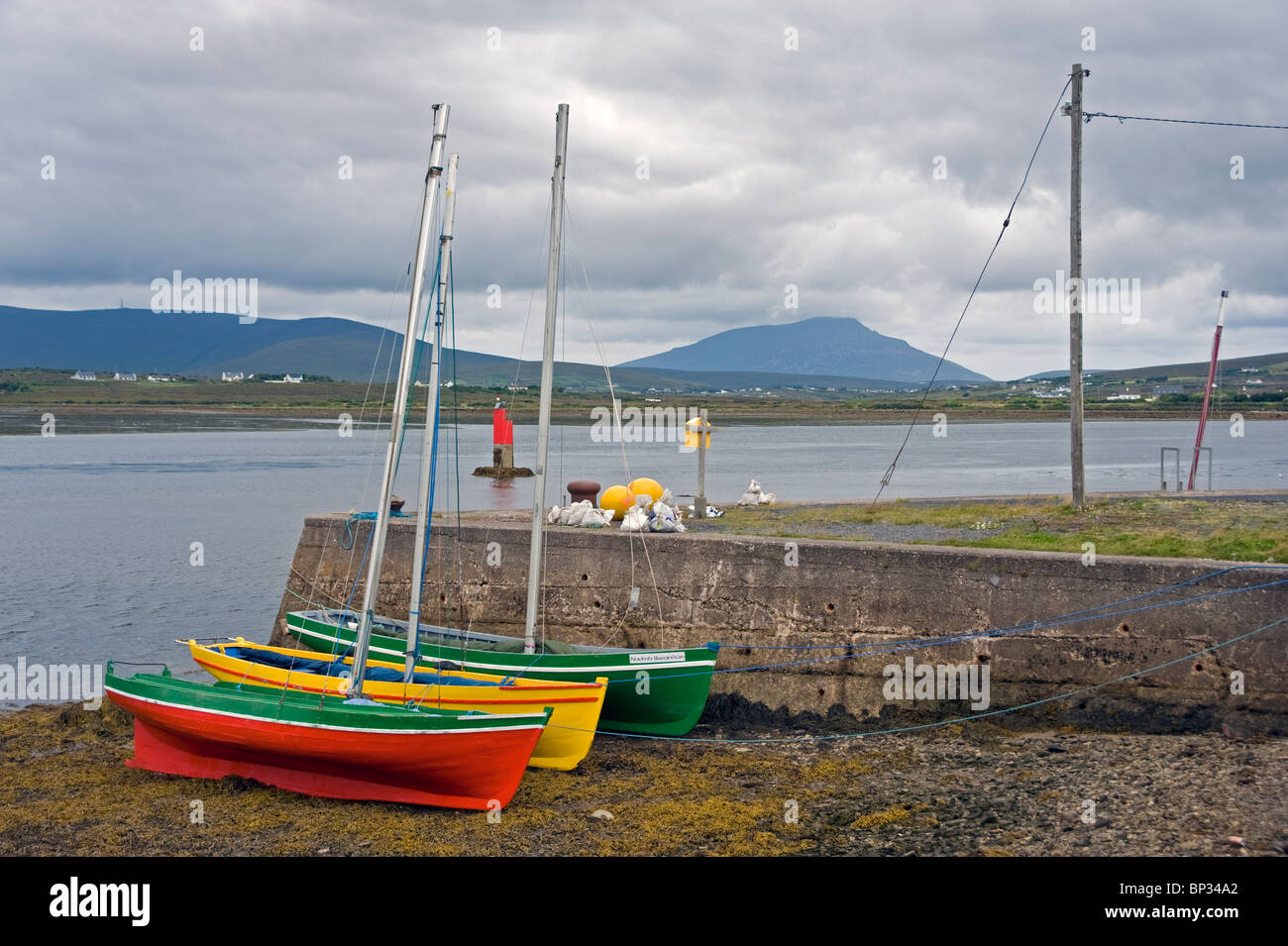 Drontheims at Achill Sound, County Mayo, Ireland. - Stock Image