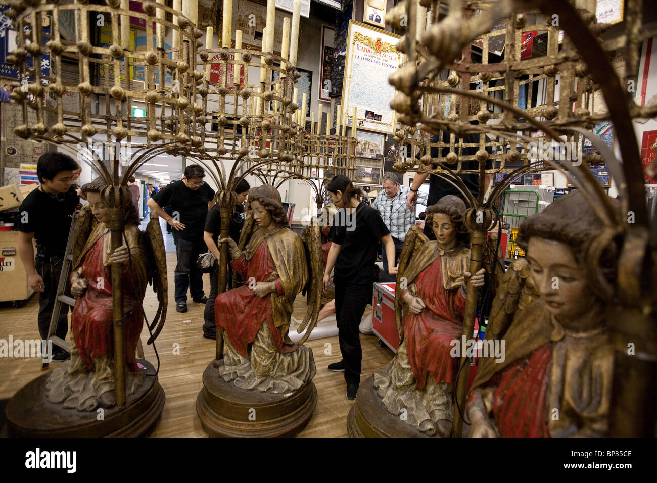 Props for Royal Ballet's 'Romeo And Juliet' backstage in the Bunka Kaikan hall, in Tokyo, Japan, Tuesday - Stock Image
