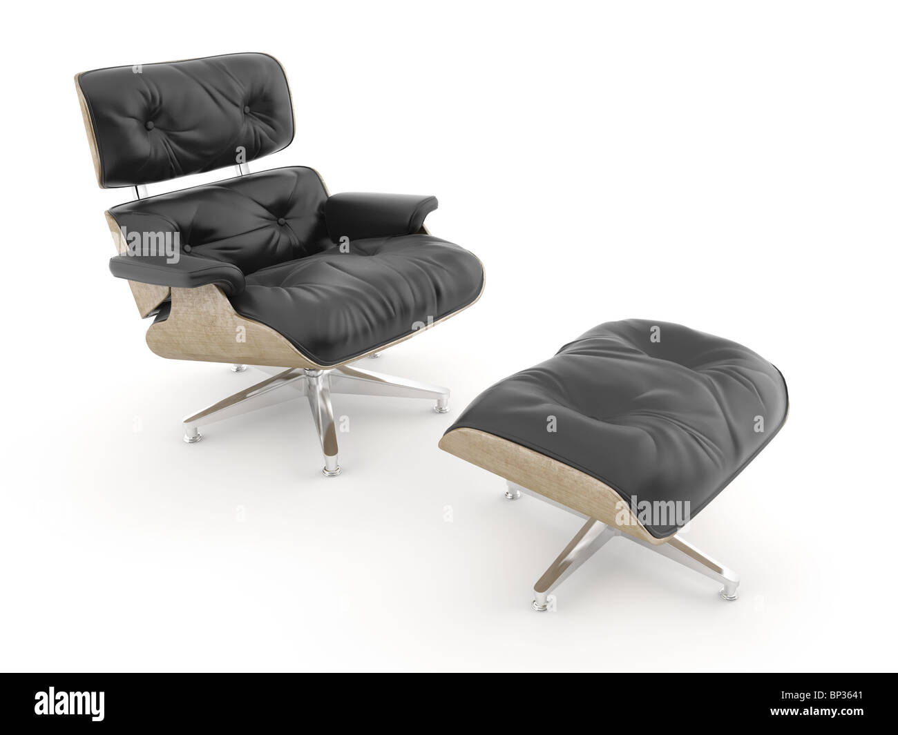 Armchair Model Charles Eames Isolated On White. THIS IMAGE CONTAINS  CLIPPING PATH   Stock Image