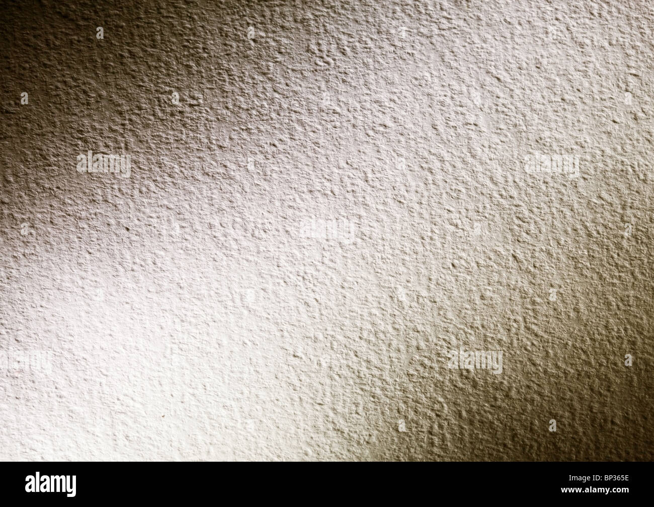 Contrasting texture of watercolor paper with dark corners. - Stock Image