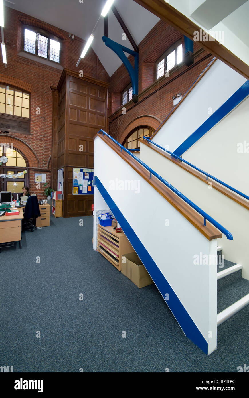 Peter Symonds College staircase - Stock Image