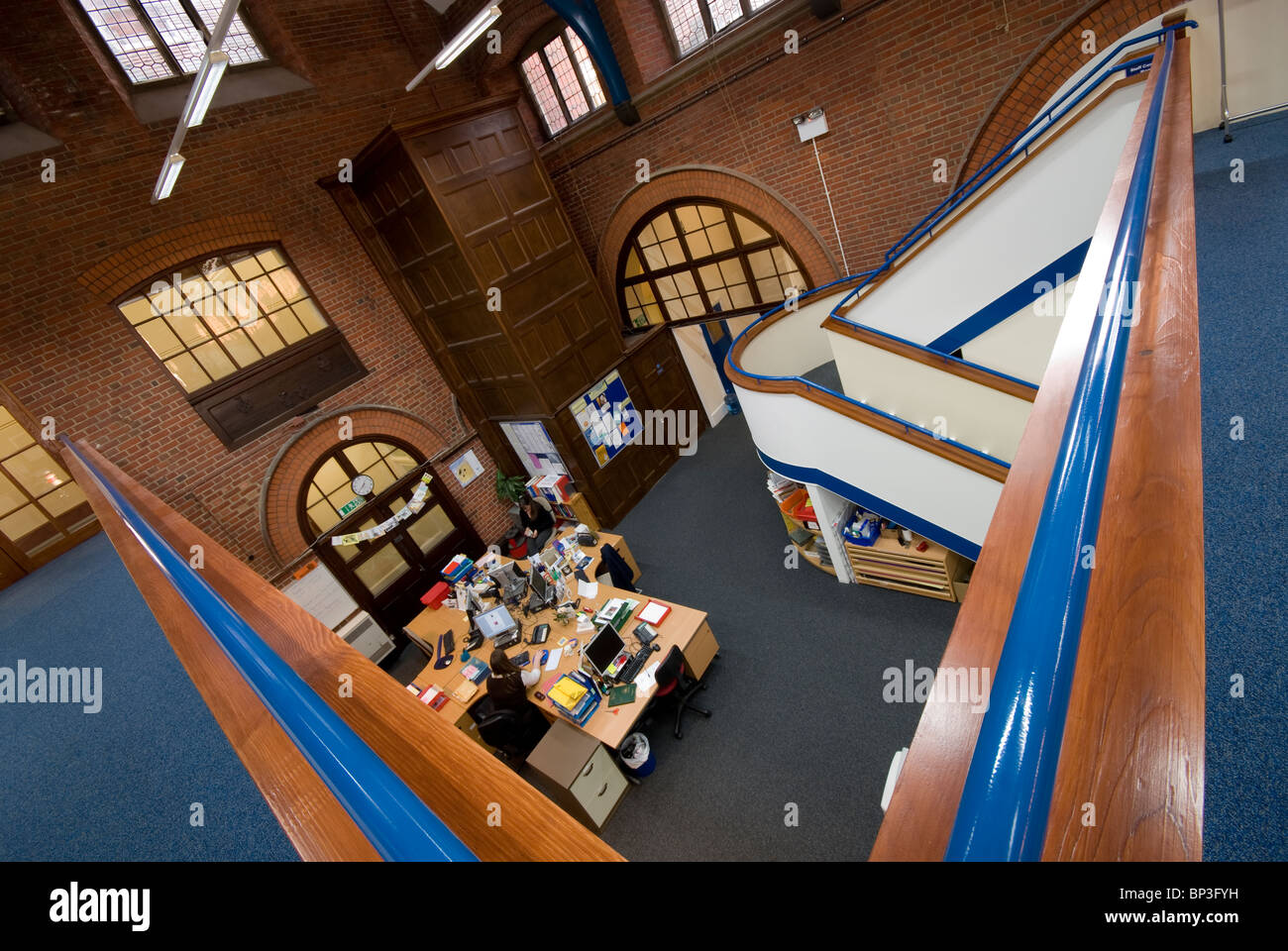 Peter Symonds College library - Stock Image