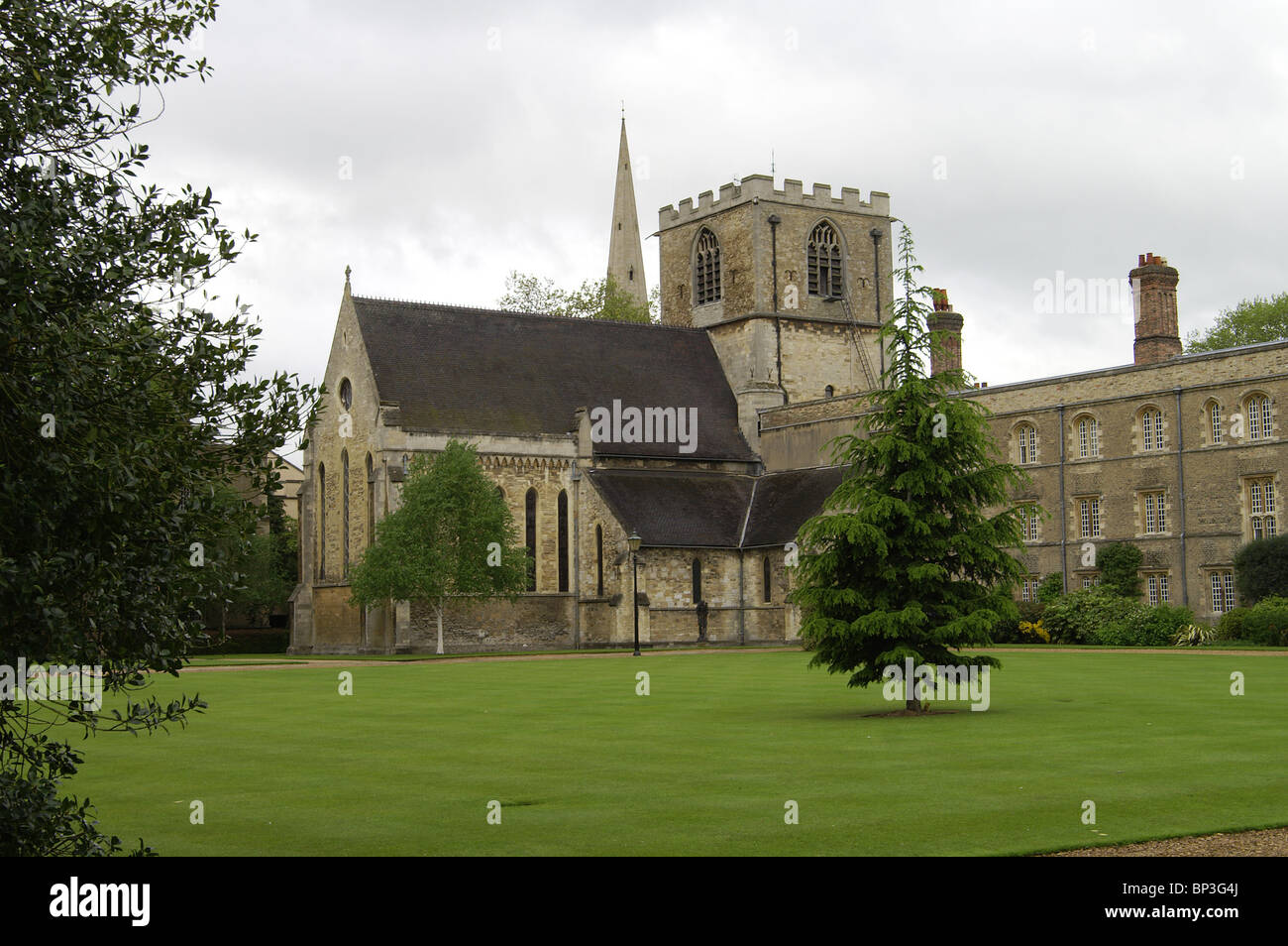 Jesus College Chapel from Chapel Court - Stock Image