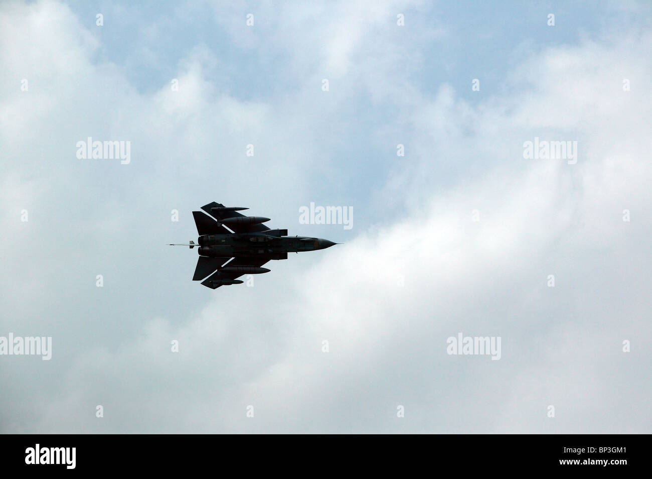 RAF Panavia Tornado GR.4 in a high speed pass,  with its wings swept back, whilst  displaying at Biggin Hill Air - Stock Image