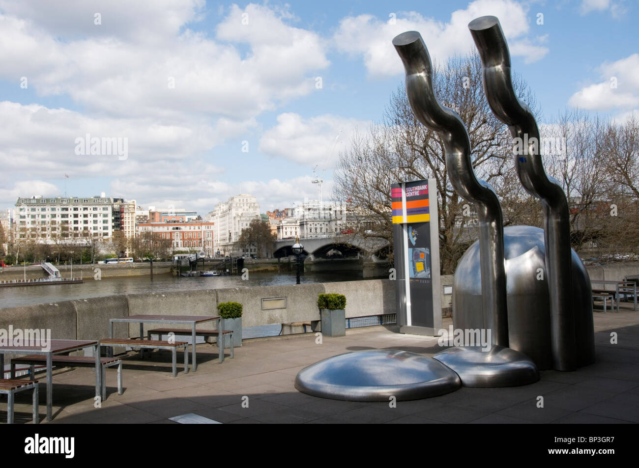 Zemran by William Pye, on London's South Bank outside the Royal Festival Hall - Stock Image
