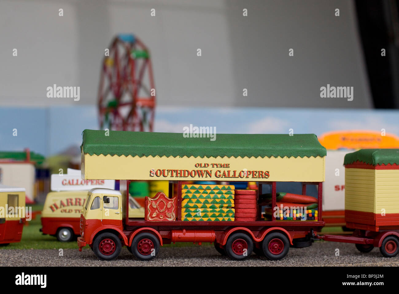 Model of a Fairground Ride at the Fun Fair show Stock Photo ...
