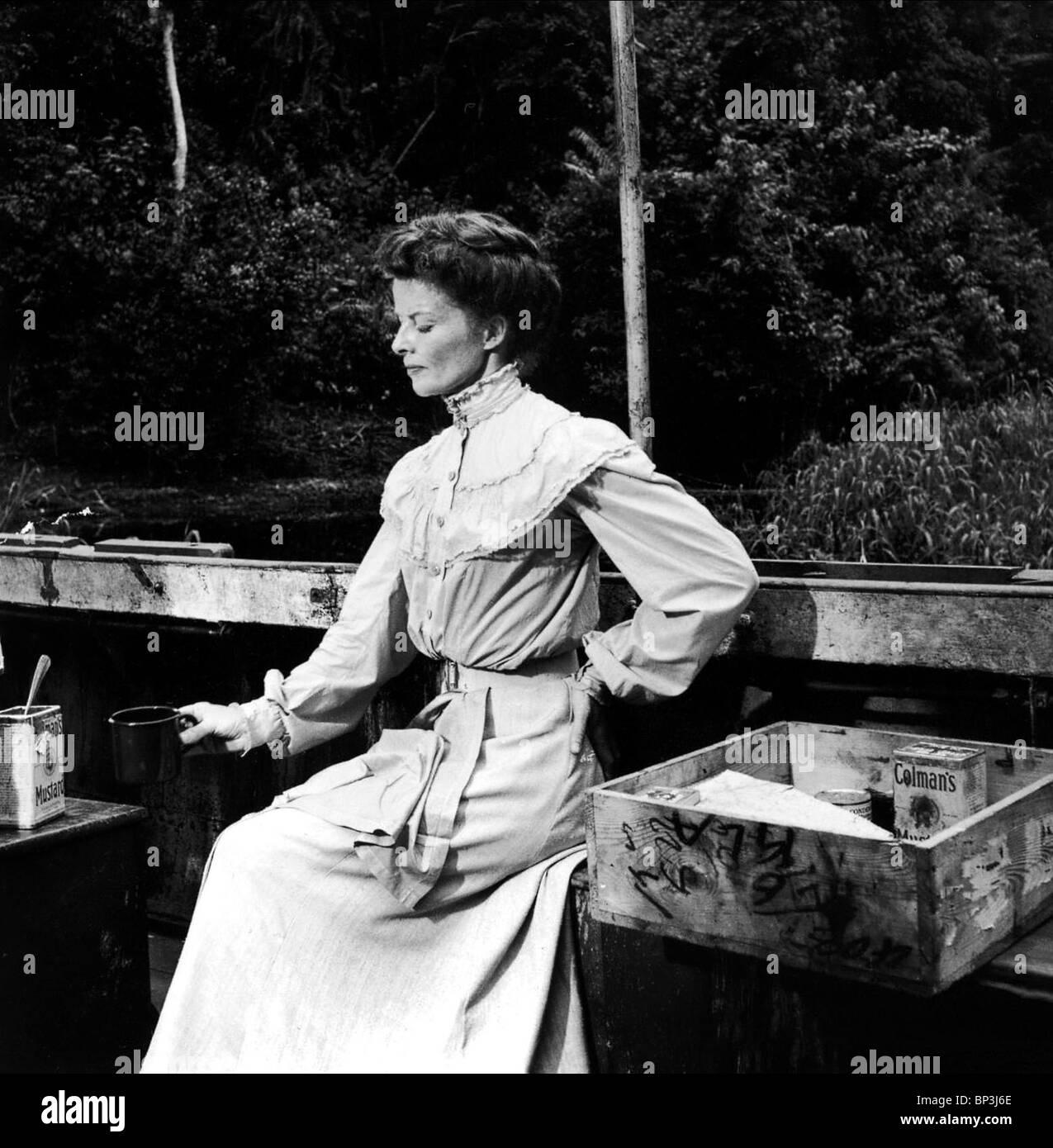 Katharine hepburn the african queen 1951 stock image