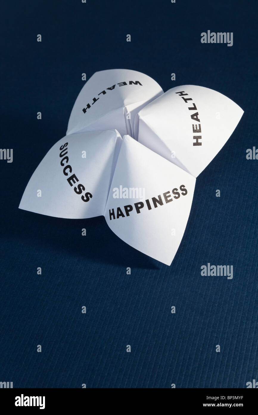 Paper Fortune Teller,concept of balance Stock Photo