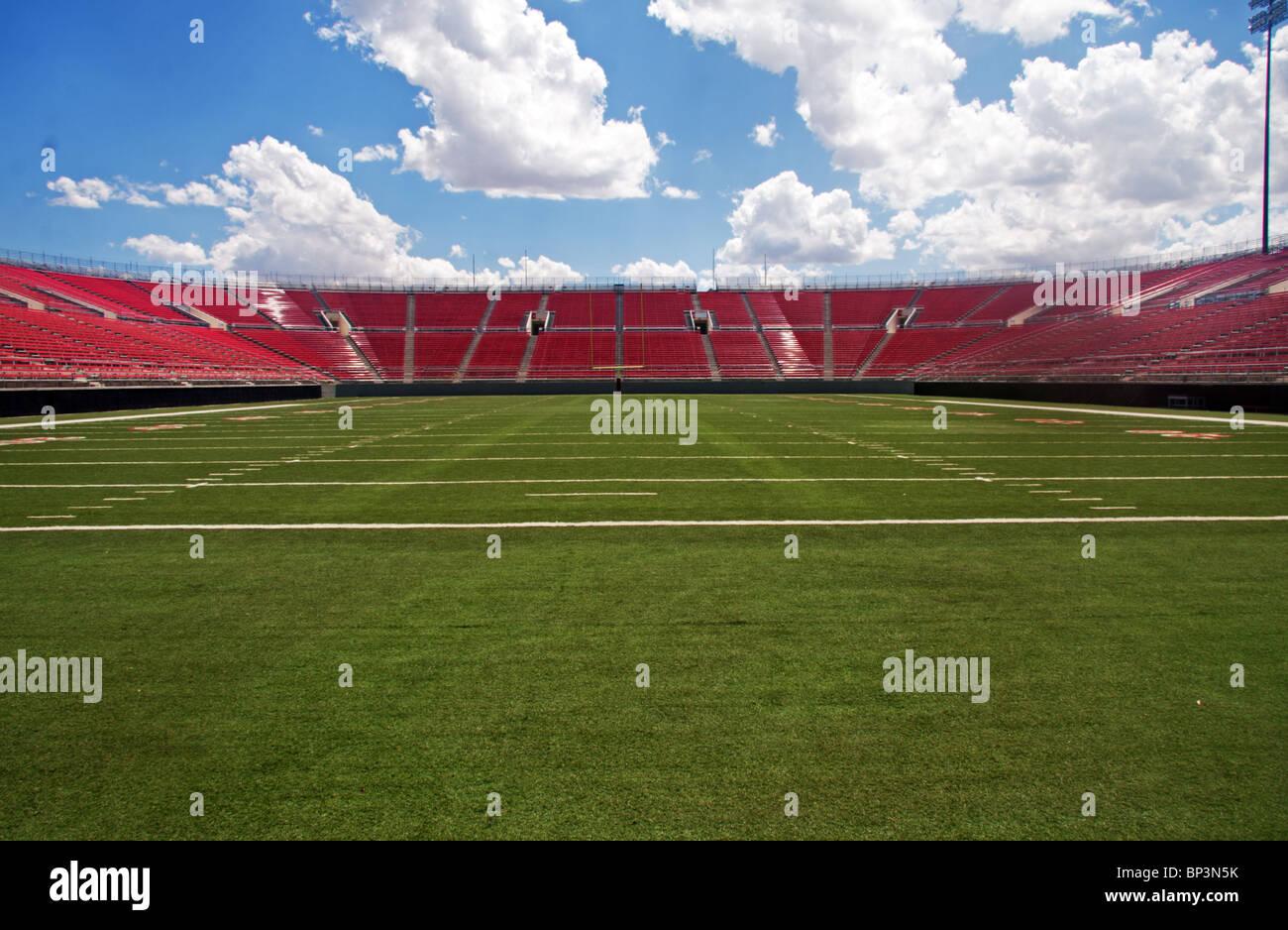 American Football stadium, empty - Stock Image