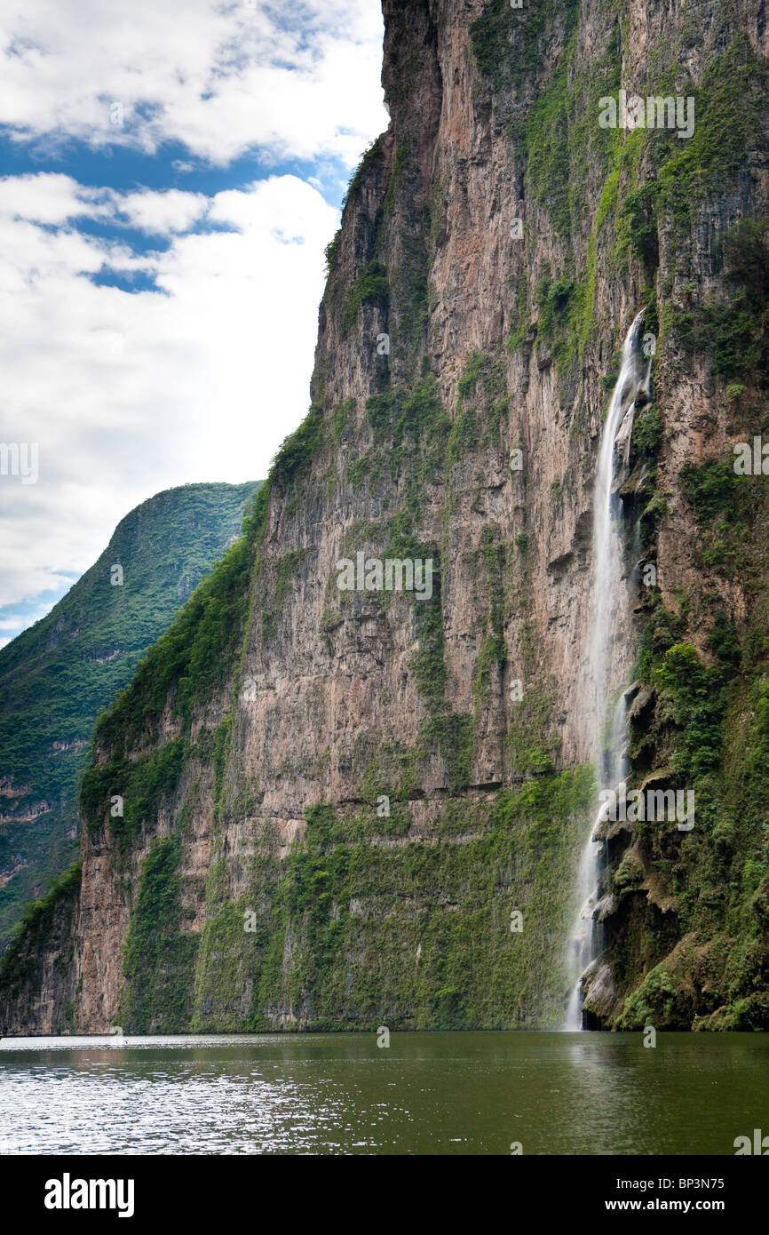 The Christmas tree formation on the Sumidero Canyon, Chiapas, Mexico - Stock Image