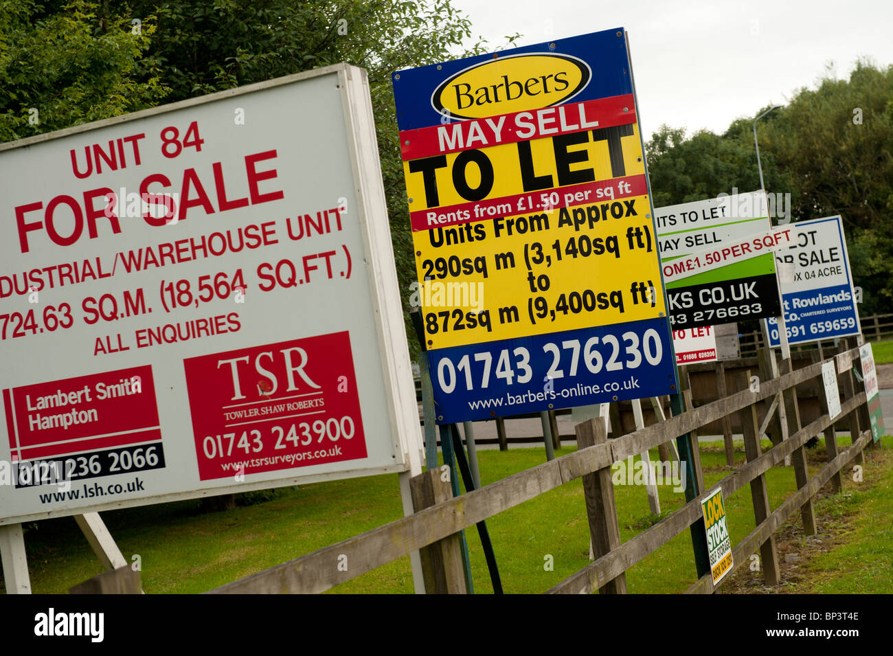 To Let and For sale for commercial properties, Newtown, Powys Wales UK - Stock Image