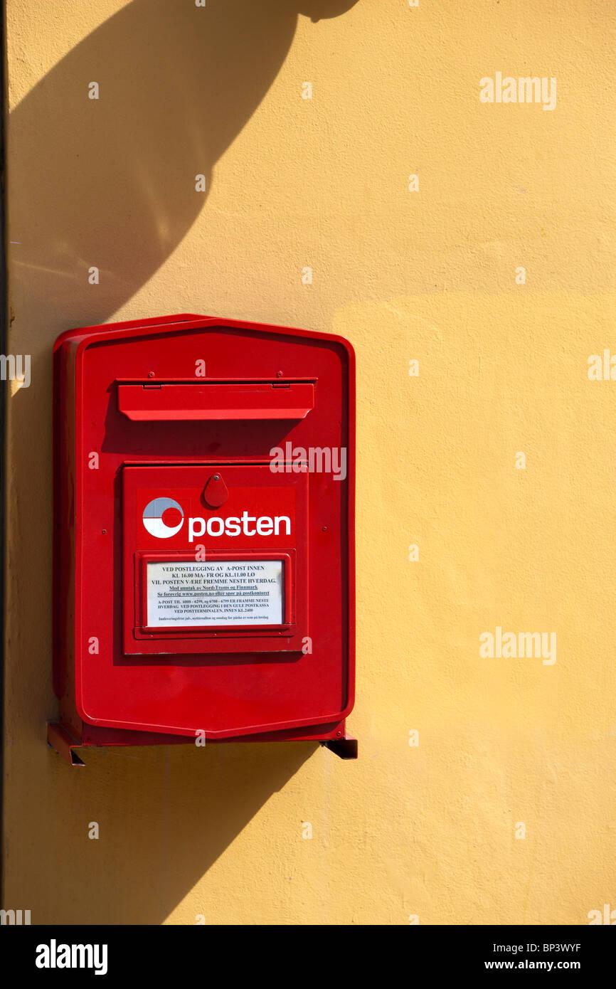 Posten Norge norwegian post box - Stock Image