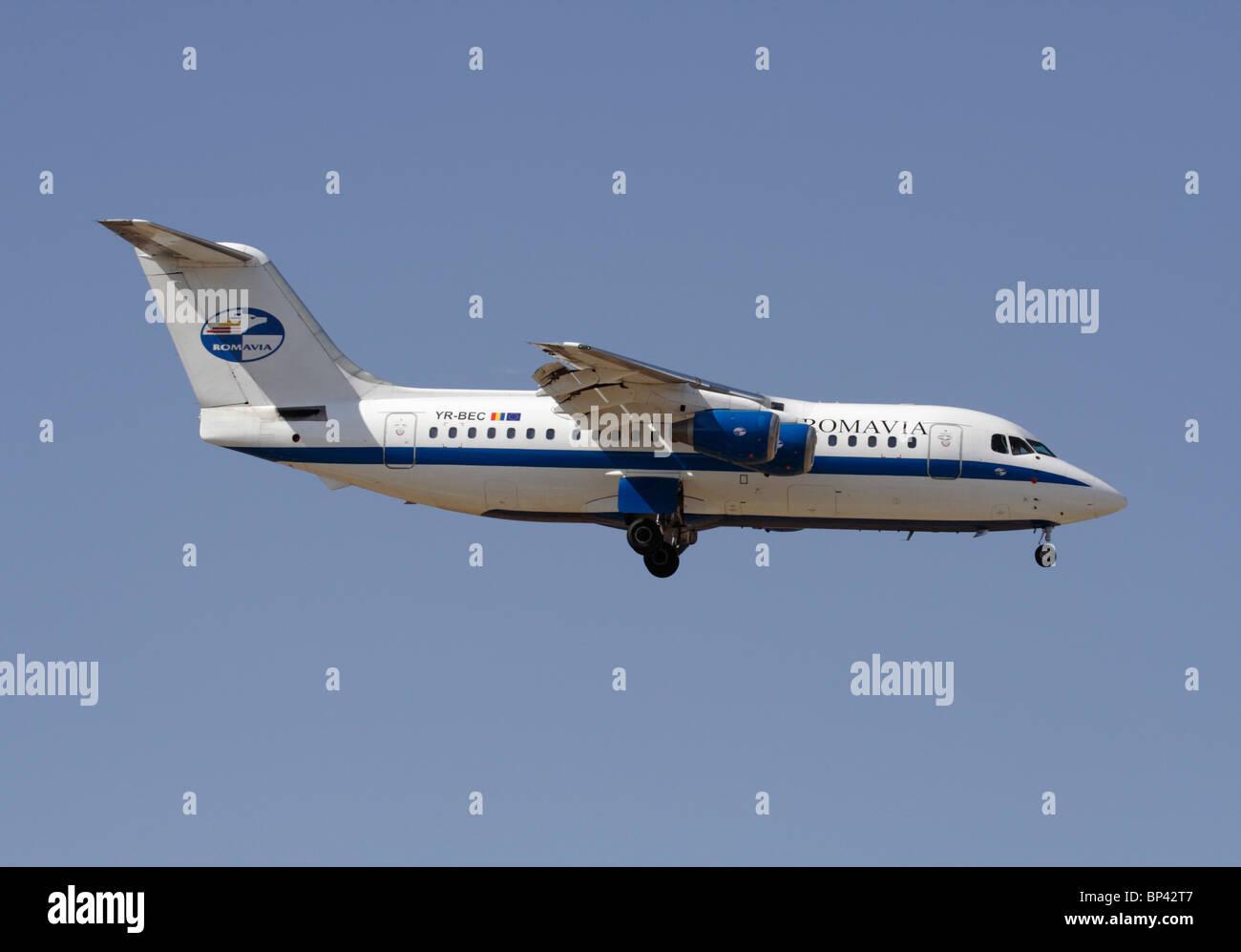 Romavia British Aerospace 146-200 - Stock Image