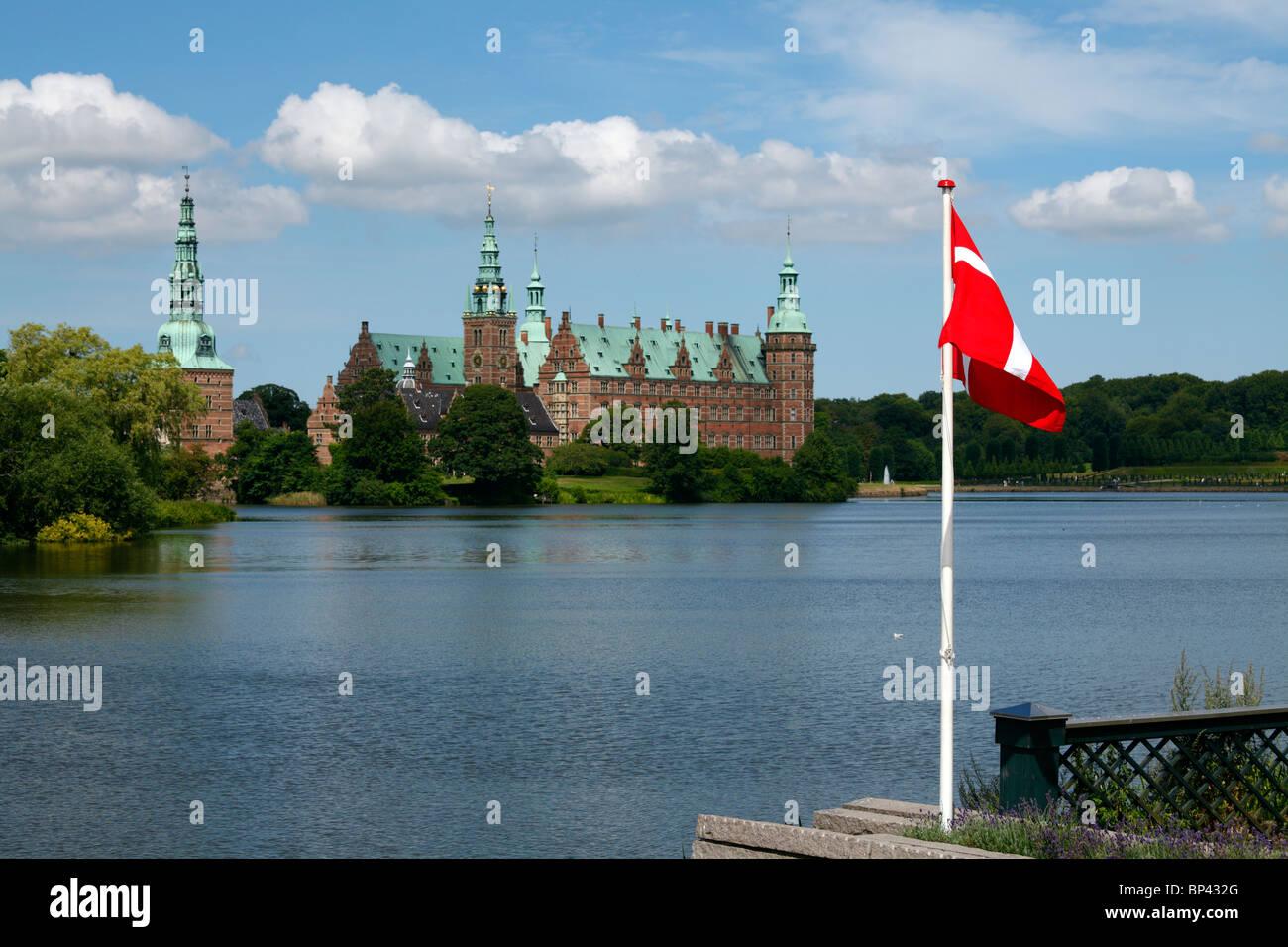Frederiksborg Castle in Hillerød near Copenhagen, Denmark. - Stock Image