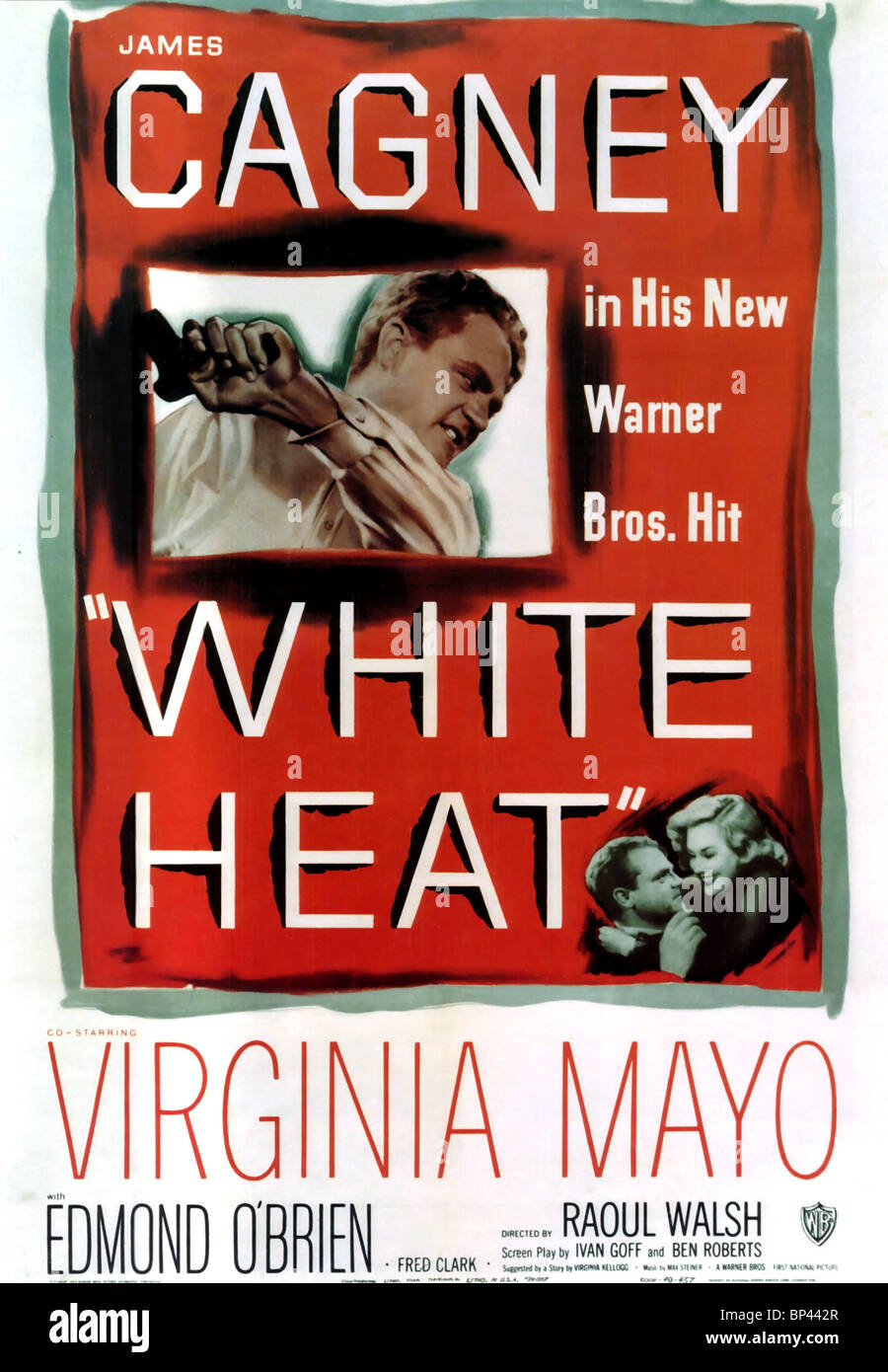 JAMES CAGNEY, VIRGINIA MAYO POSTER, WHITE HEAT, 1949 - Stock Image
