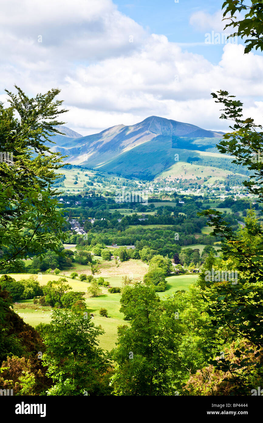View toward Causey Pike from the path up to Latrigg near Keswick, Lake District, Cumbria, England, UK Stock Photo