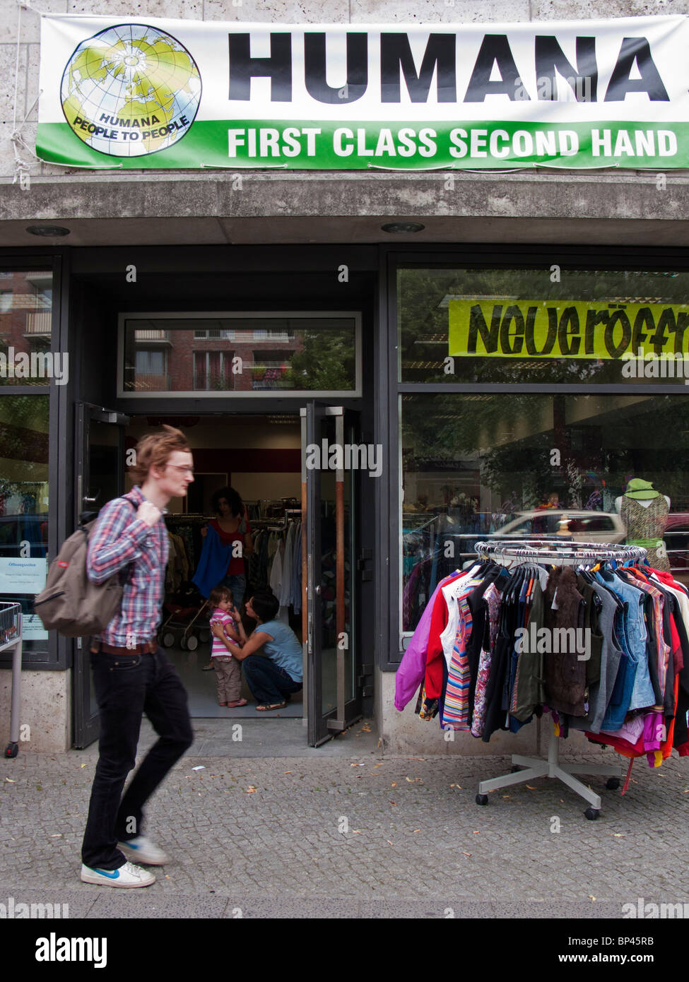 Humana second hand charity shop in Berlin Germany - Stock Image
