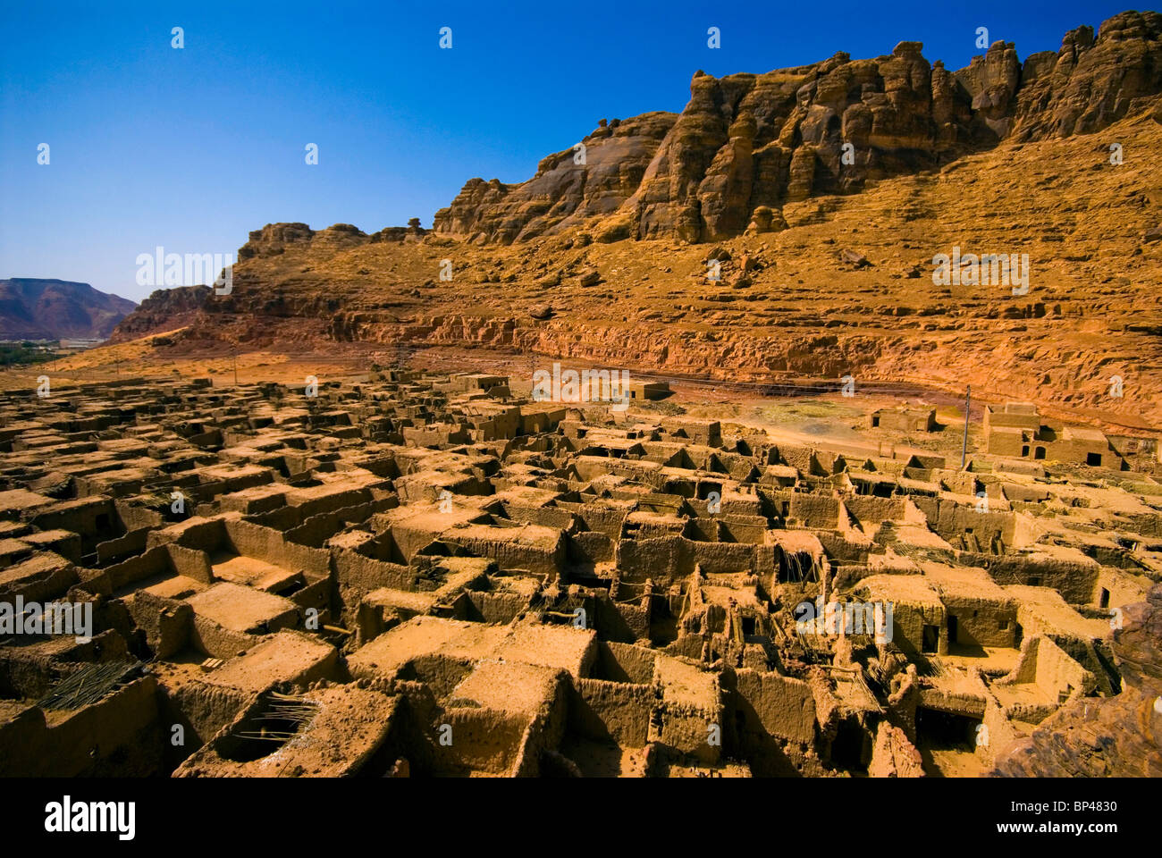Saudi Arabia, Al-Ula, view of the old town, now abandoned - Stock Image