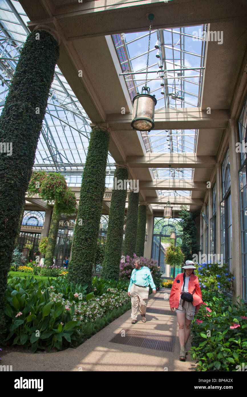 Built In 1919, The Conservatory Of Longwood Gardens In Kennett Square,  Pennsylvania Spans 1