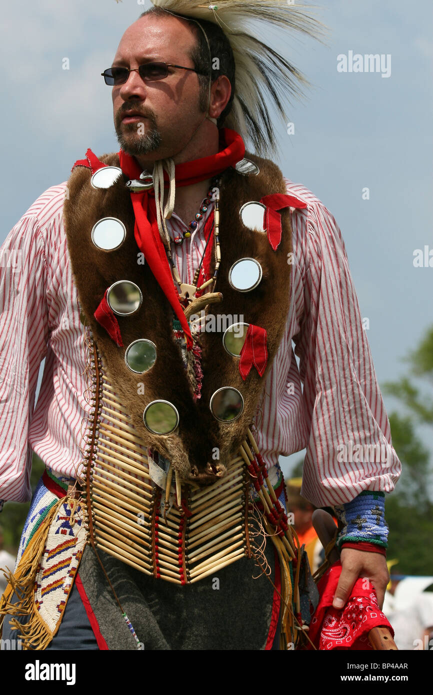 Native American at the 8th Annual Red Wing PowWow in Virginia Beach, Virginia - Stock Image