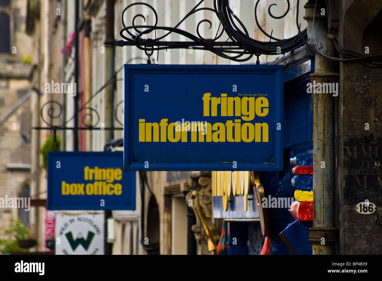 Edinburgh Festival Fringe info - Stock Image