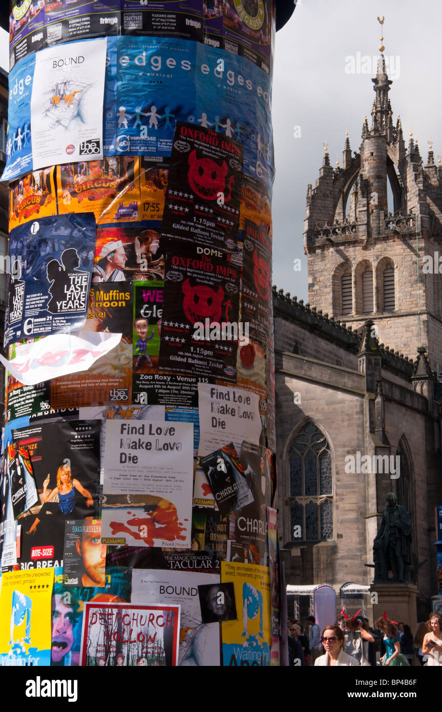 Edinburgh fridge festival adverts on 'royal mile' - Stock Image