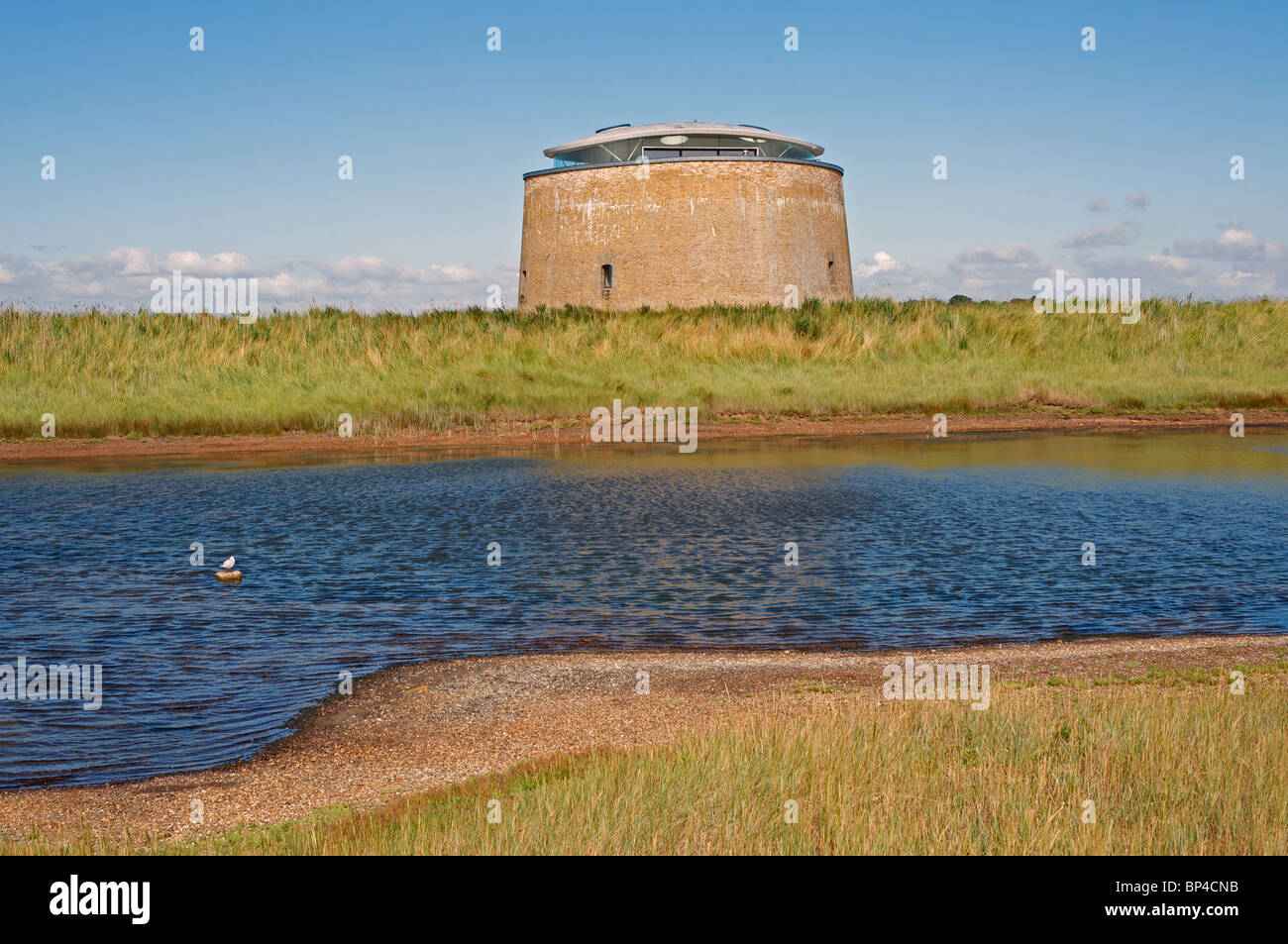 Martello tower Y converted into a residential property, Suffolk, UK. - Stock Image