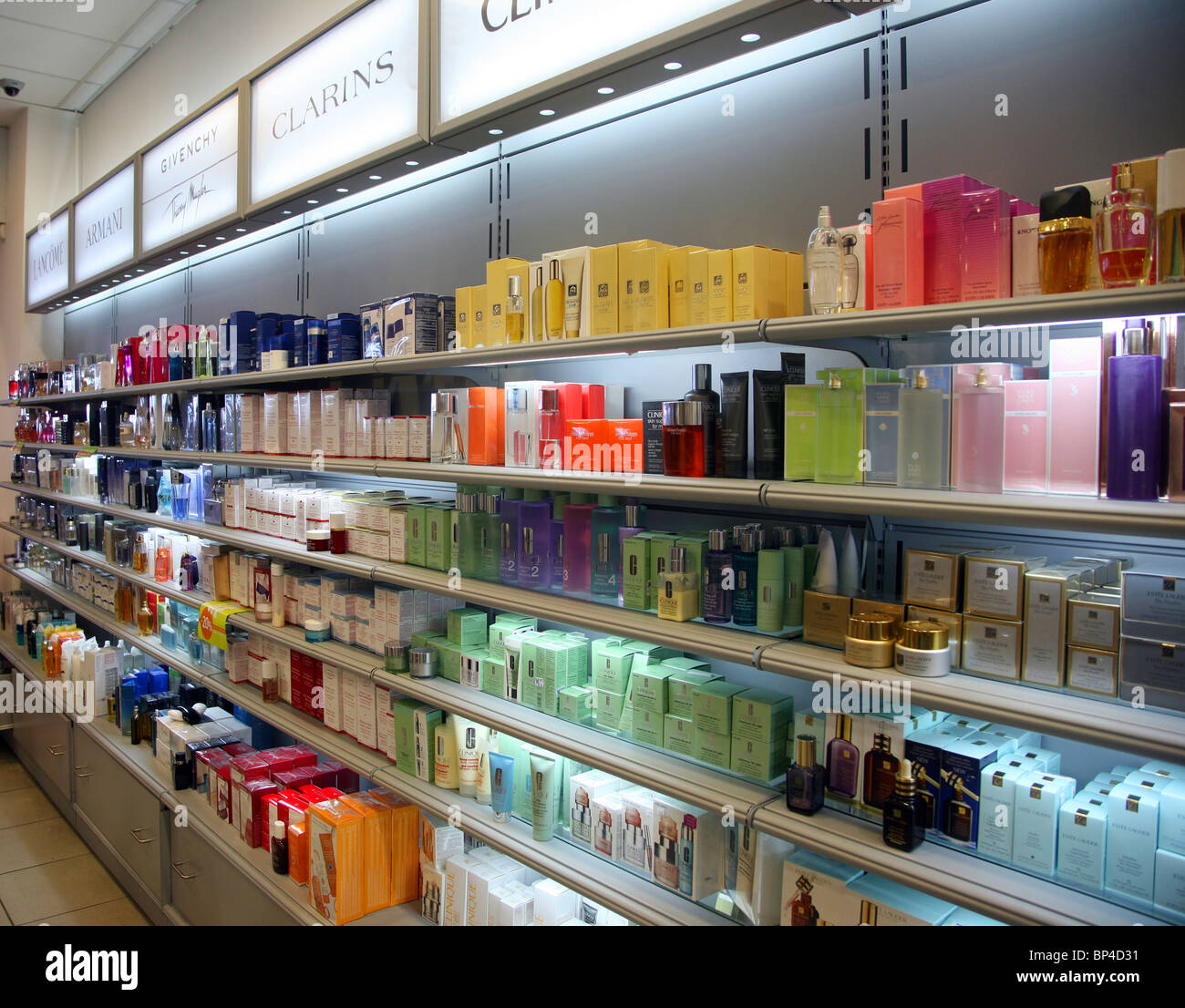 eb1d863ad2b Perfume in airport Duty Free shop Rhodes Greeces Stock Photo ...