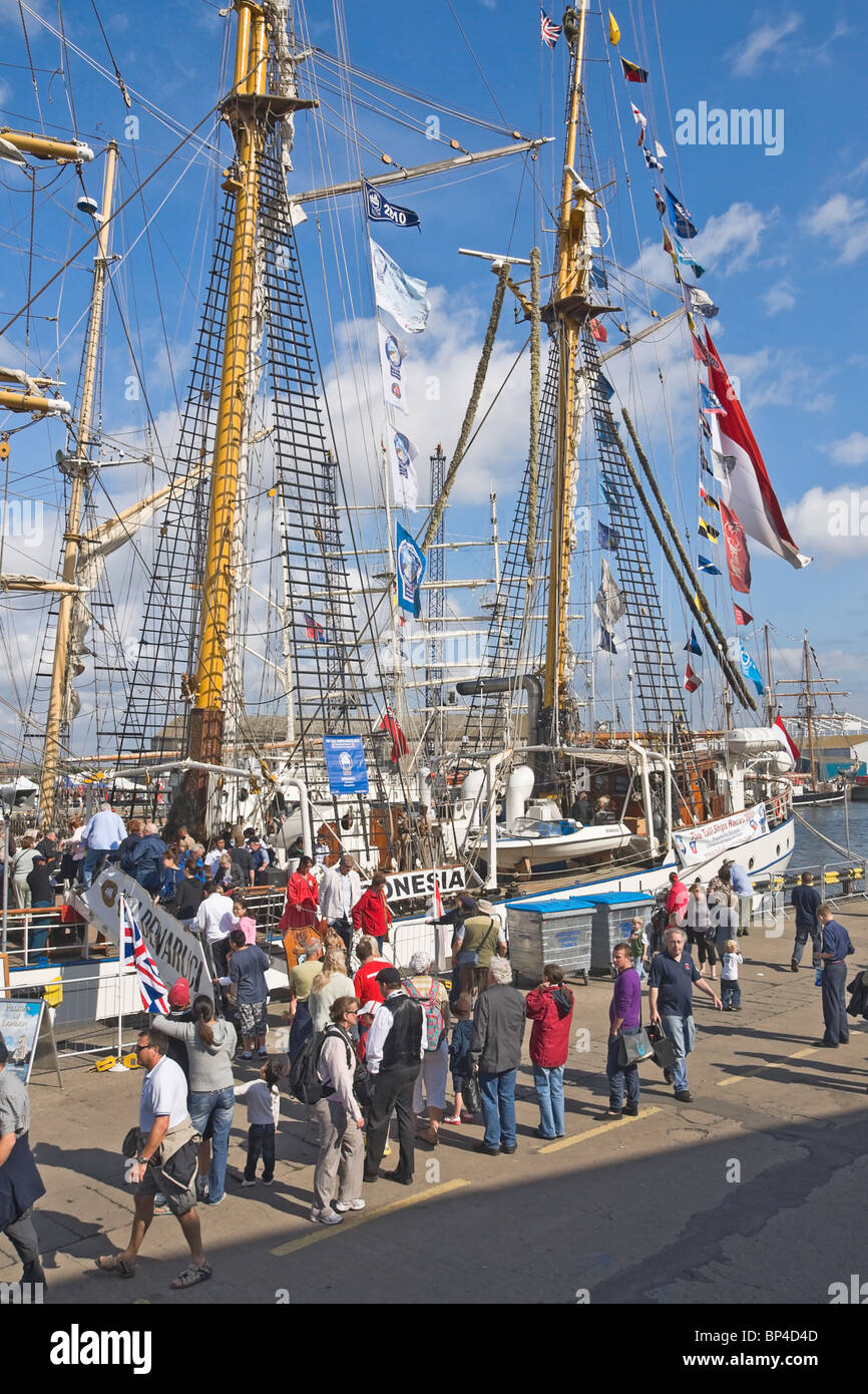 The quayside at Hartlepool during the Tall ships race, 2010. - Stock Image