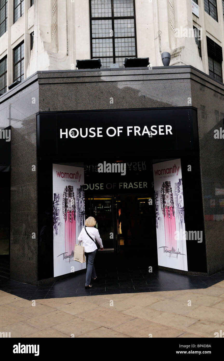House of Fraser shop store, Oxford street, London, England, UK - Stock Image