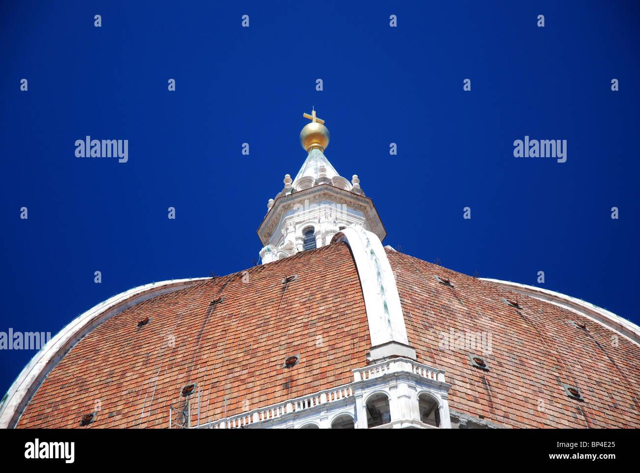 The dome (Duomo)  Santa Maria del Fiore, Florence, Italy - Stock Image