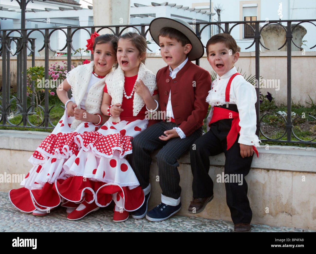 Spanish Children In Flamenco Costume Stock Photos ...