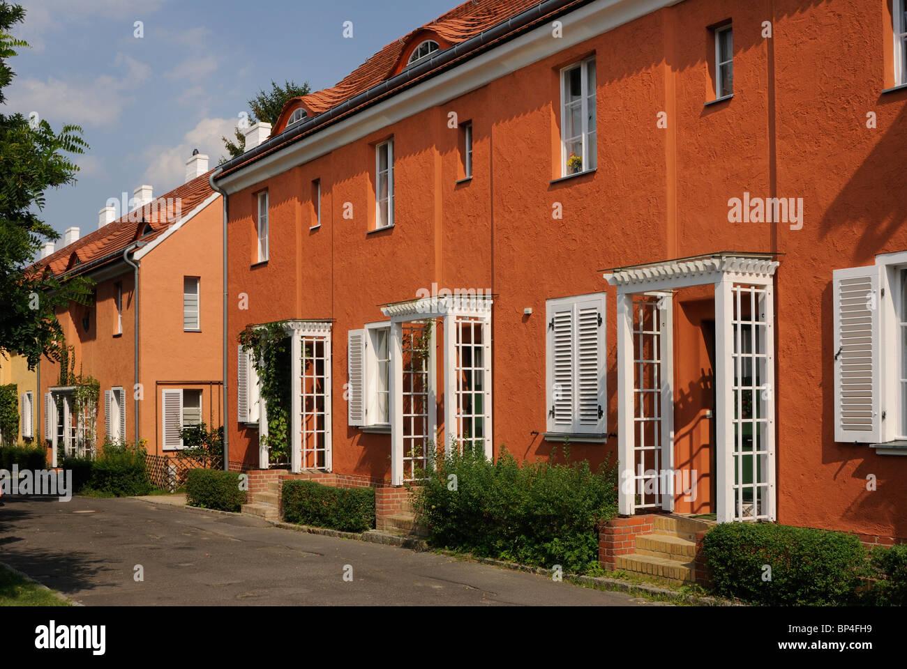 Gartenstadt Falkenberg, Falkenberg Garden City, ink box colony Stock ...