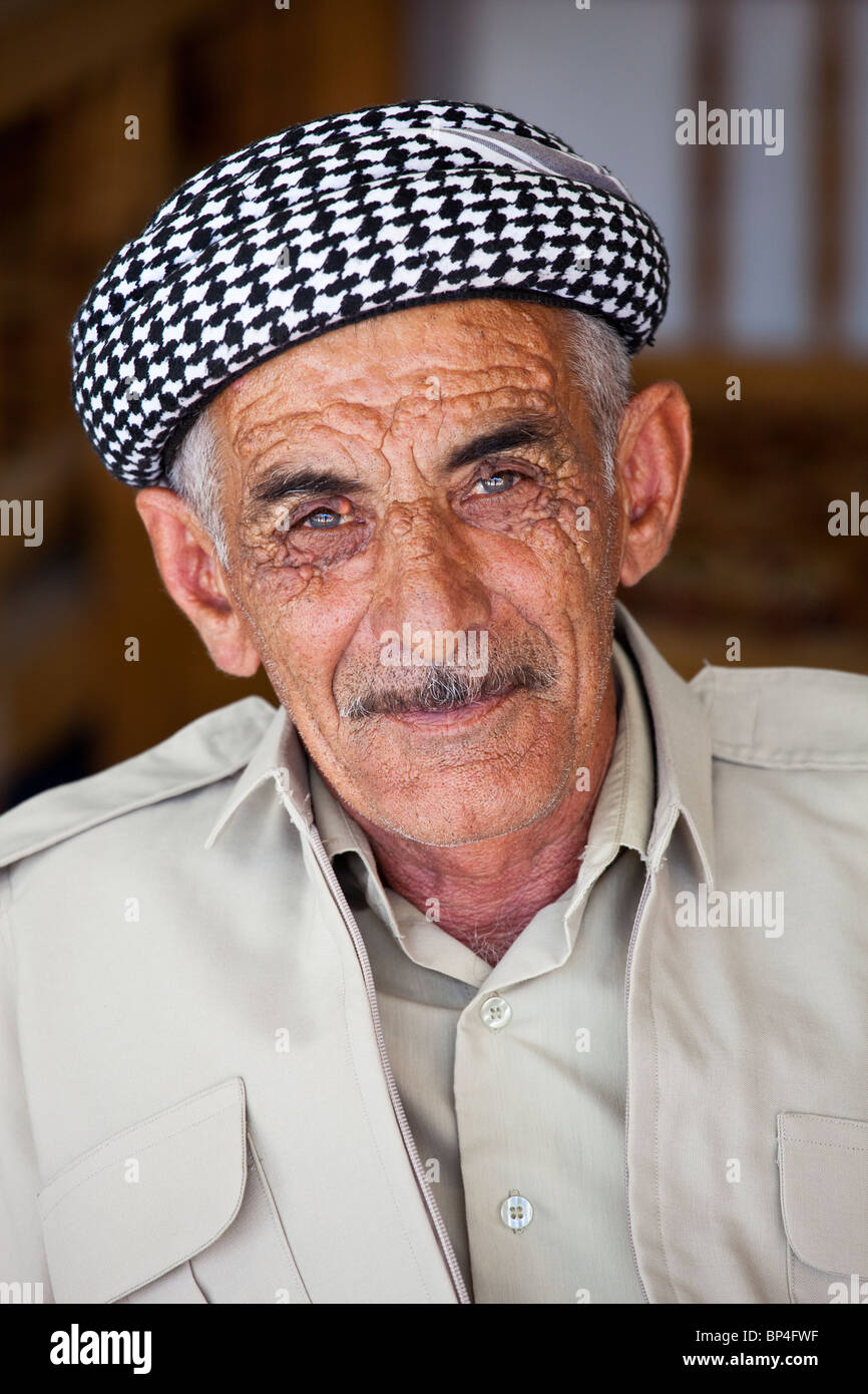 Kurdish Iraqi man in Dohuk, Kurdistan, Iraq - Stock Image