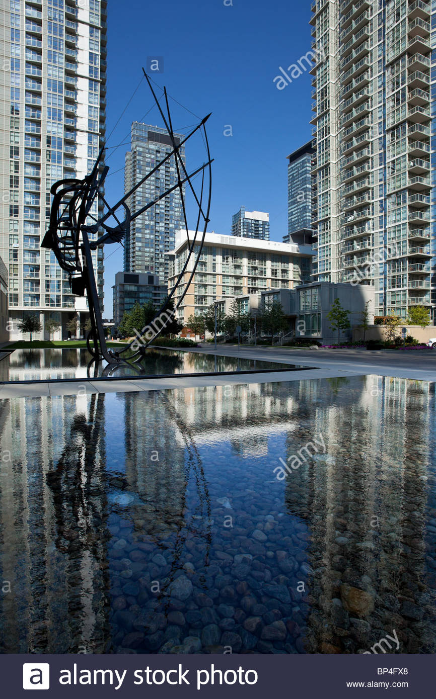 Urban renewal New condominiums built on a decommissioned rail yard at CityPlace near downtown in Toronto Ontario Stock Photo