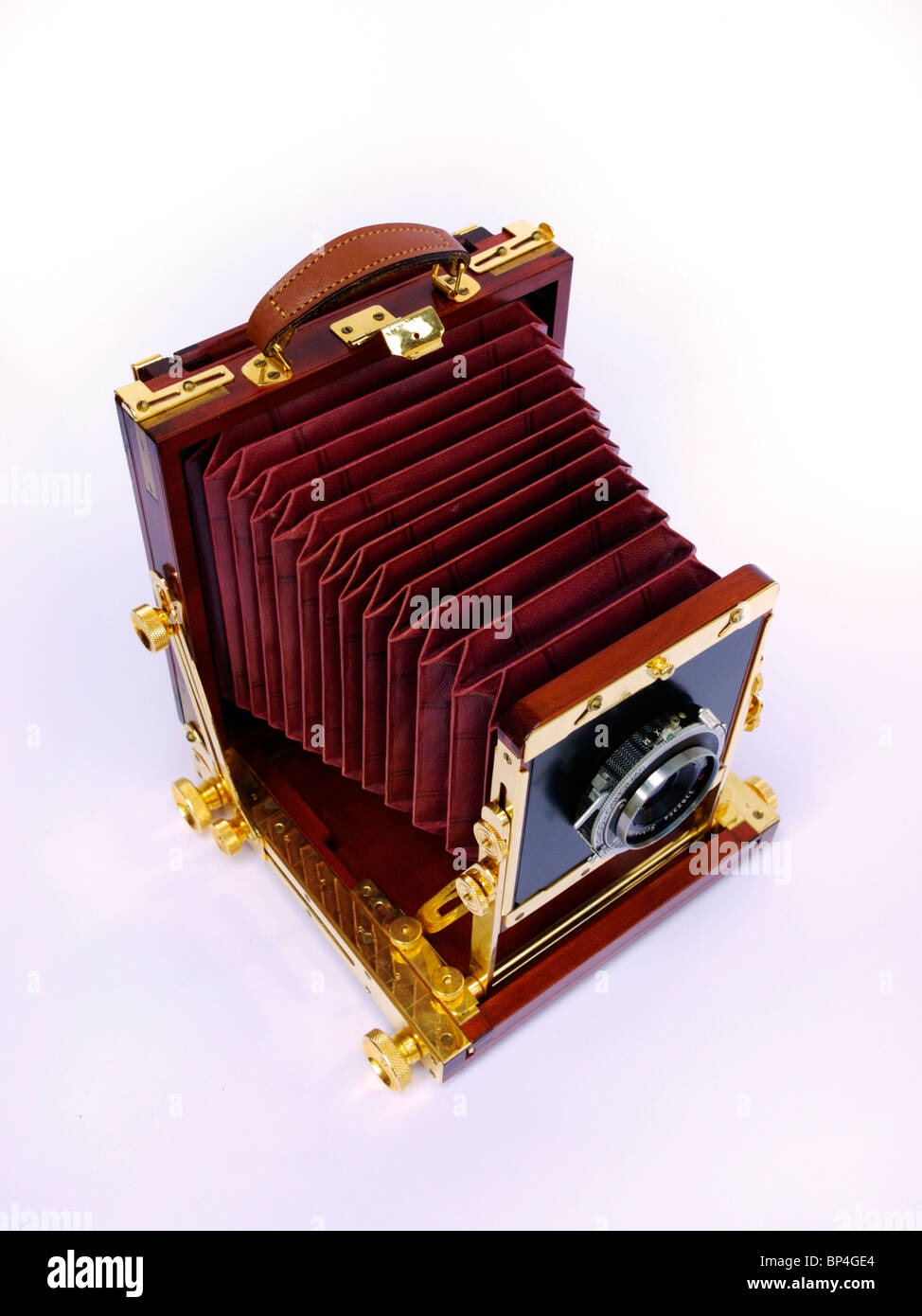 Wooden large-format camera - Stock Image