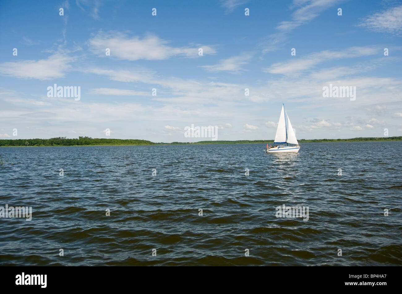 Yacht on Mazyury - Stock Image