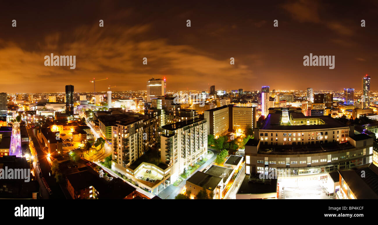 View from The Cube building, Birmingham City Centre, Birmingham, West Midlands, England, UK - Stock Image