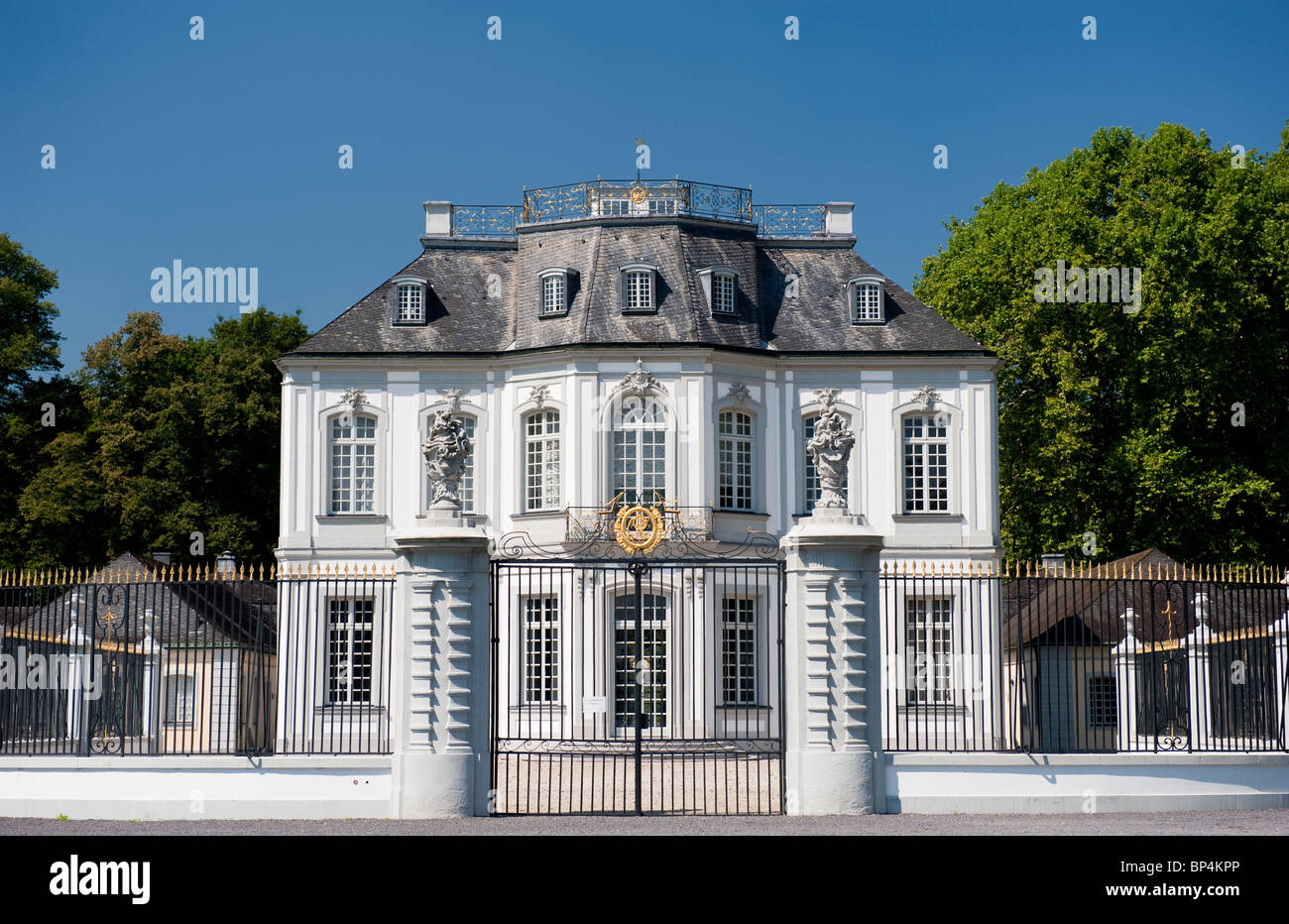 Schloss Falkenlust in Brühl, a palace for Falconry - Stock Image